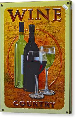 Wine Country Canvas Print by Frozen in Time Fine Art Photography