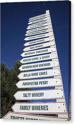 Wine Country Signs Canvas Print
