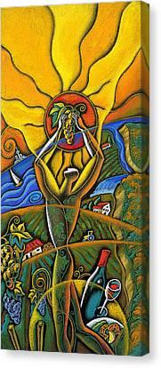 Wine Festival Canvas Print by Leon Zernitsky