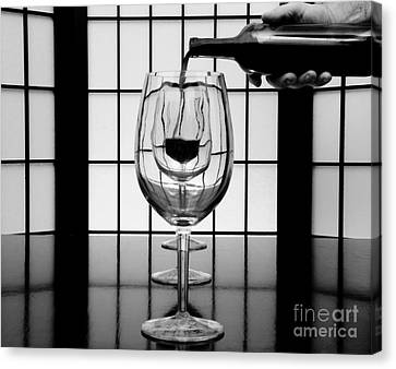 Wine For Three 2 Canvas Print by John Debar