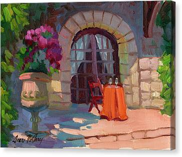 Wine For Two Canvas Print by Diane McClary