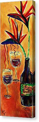 Wine From Birds Of Paradise  Canvas Print by Victoria  Johns