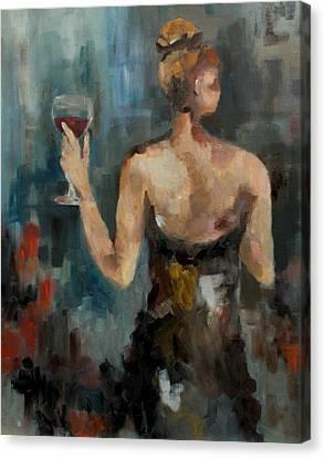Wine Glass Canvas Print by Nicole Roggeman