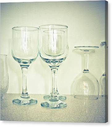Wine Glasses Canvas Print by Tom Gowanlock