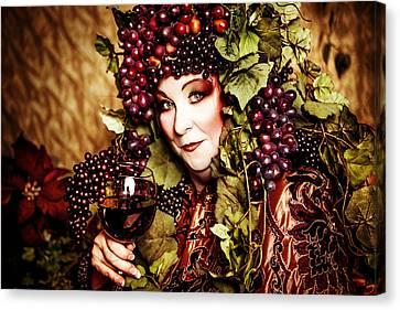 Wine Goddess Canvas Print by Renee Keith