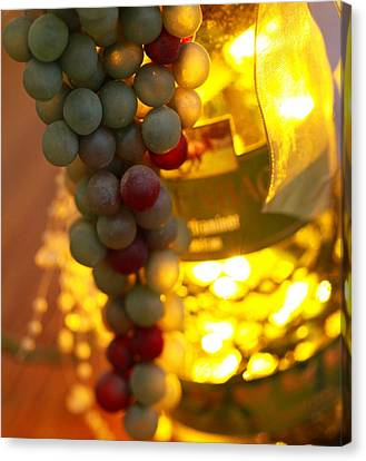Wine Grapes Bokeh Canvas Print by Dan Sproul