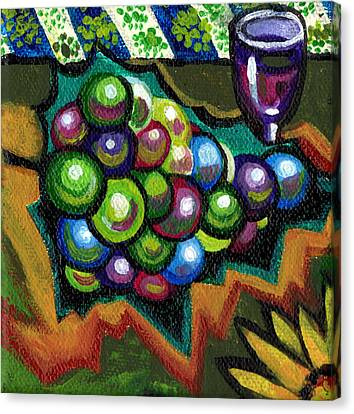 Wine Grapes Canvas Print by Genevieve Esson