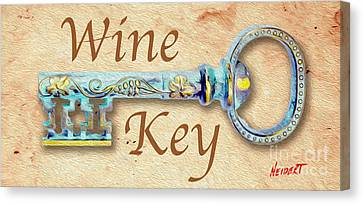 Wine Key Painting  Canvas Print by Jon Neidert