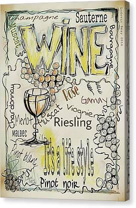 Malbec Canvas Print - Wine by Ludovic  Bezy