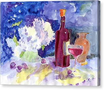 Wine - No Cheese Canvas Print by Marsden Burnell