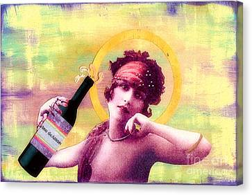 Canvas Print featuring the painting Wine Of Love by Desiree Paquette