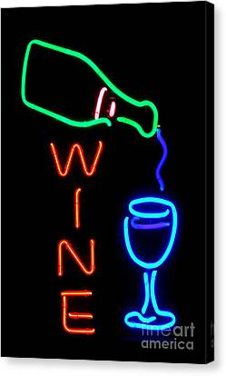 Glass Bottle Canvas Print - Wine by Olivier Le Queinec