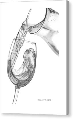 Wine Pour Canvas Print by Eric Mathews