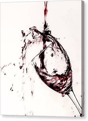 Wine Pour Splash In Color 2 Canvas Print