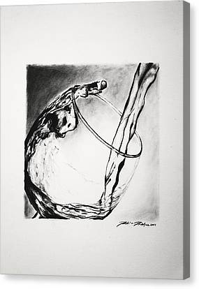 Wine Pouring Canvas Print by Dustin Phelps