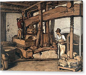 Wine Press 1890 Canvas Print by Padre Art