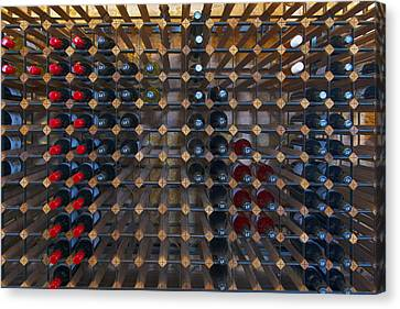Wine Rack  Canvas Print by Casey Grant