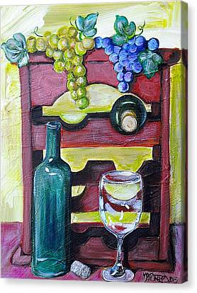 Wine Rack  Canvas Print by Melissa Torres