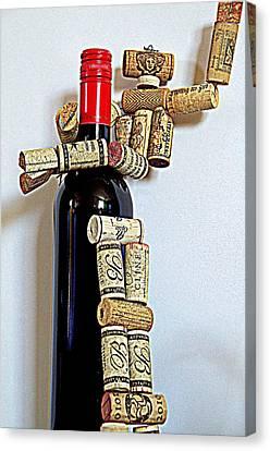 Wine Robot Captures A Bottle Of Wine Canvas Print