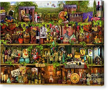 Wine Shelf Canvas Print