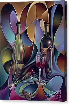 Wine Spirits Canvas Print by Ricardo Chavez-Mendez