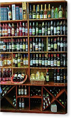 Canvas Print featuring the photograph Wine Store Provence France by Dave Mills