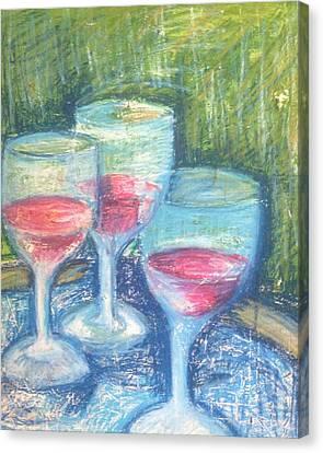 Malbec Canvas Print - Wine Trio by Rosemary Bingay