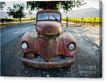 Cheese Canvas Print - Wine Truck by Jon Neidert