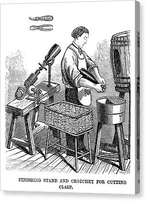 Winemaking Finishing, 1866 Canvas Print by Granger