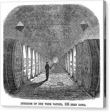 Winemaking Vault, 1866 Canvas Print by Granger