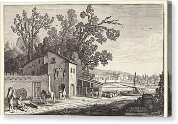 Winery In A Landscape, Jan Van De Velde II Canvas Print