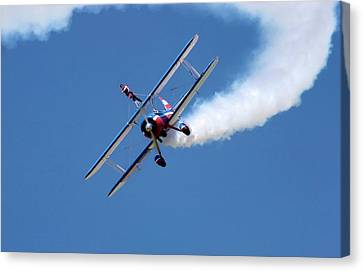 Courage Canvas Print - Wing-walking Display by Jim West