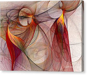 Winged-abstract Art Canvas Print by Karin Kuhlmann
