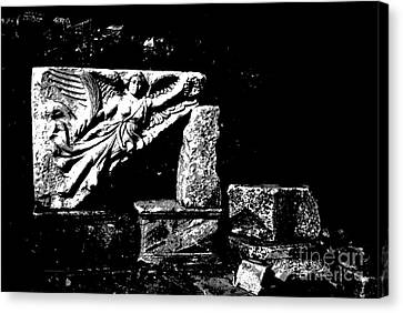 Nike Greek Goddess Of Victory Canvas Print by Jacqueline M Lewis