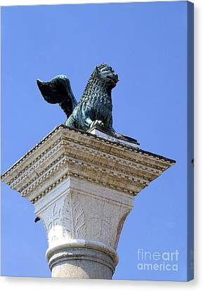 Winged Lion Of Saint Marks, Venice Canvas Print
