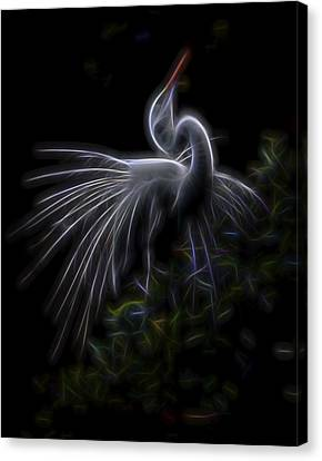 Canvas Print featuring the digital art Winged Romance 2 by William Horden