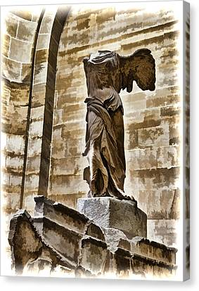 Winged Victory - Louvre Canvas Print by Jon Berghoff