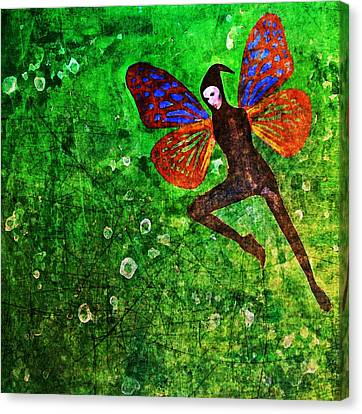 Canvas Print featuring the digital art Wings 10 by Maria Huntley