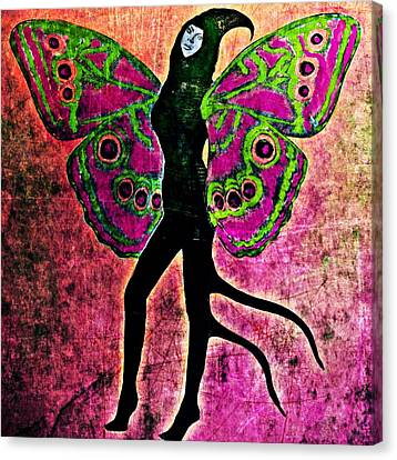 Canvas Print featuring the digital art Wings 11 by Maria Huntley