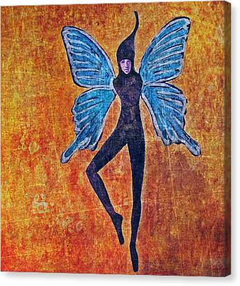 Canvas Print featuring the digital art Wings 16 by Maria Huntley