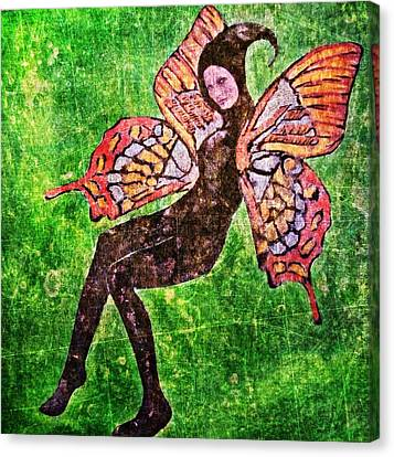 Canvas Print featuring the digital art Wings 17 by Maria Huntley