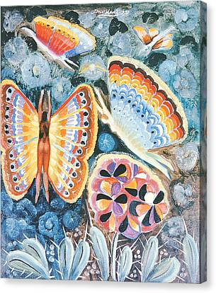 Fairies Canvas Print - Wings, 1979 Oil On Canvas by Radi Nedelchev