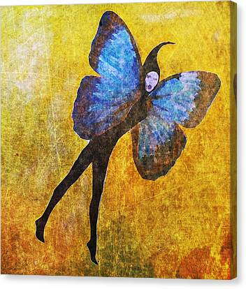 Canvas Print featuring the digital art Wings 5  by Maria Huntley