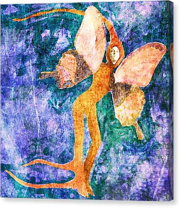 Canvas Print featuring the digital art Wings 8 by Maria Huntley