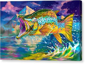 Wings And Fins  Canvas Print by Yusniel Santos