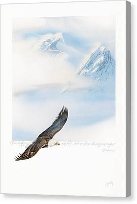 Wings As Eagles Canvas Print by Cliff Hawley