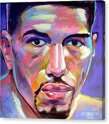 Canvas Print featuring the painting Winky Wright by Robert Phelps