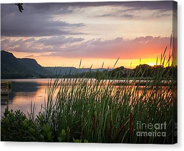 Canvas Print featuring the photograph Winona Sunset by Kari Yearous