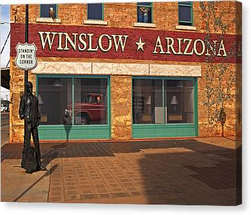 Canvas Print featuring the photograph Winslow Arizona by Bob Pardue