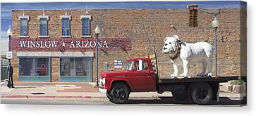 Winslow Arizona Canvas Print by Mike McGlothlen
